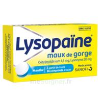 LysopaÏne Comprimés à Sucer Maux De Gorge Sans Sucre 2t/18 à Saint-Pierre-des-Corps