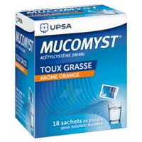 MUCOMYST 200 mg Poudre pour solution buvable en sachet B/18 à Saint-Pierre-des-Corps