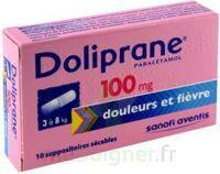 DOLIPRANE 100 mg Suppositoires sécables 2Plq/5 (10) à Saint-Pierre-des-Corps