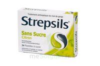 Strepsils Citron Sans Sucre, Pastille édulcorée à L'isomalt, Au Maltitol Et à La Saccharine Sodique à Saint-Pierre-des-Corps