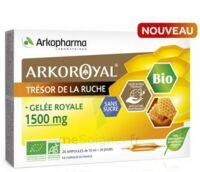 Arkoroyal Gelée royale bio sans sucre 1500mg Solution buvable 20 Ampoules/10ml à Saint-Pierre-des-Corps