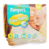PAMPERS COUCHES NEW BABY TAILLE 1 2-5 KG x 25 à Saint-Pierre-des-Corps