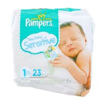 PAMPERS COUCHES NEW BABY SENSITIVE TAILLE 1 2-5 KG x 23 à Saint-Pierre-des-Corps