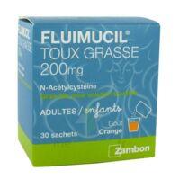 FLUIMUCIL EXPECTORANT ACETYLCYSTEINE 200 mg SANS SUCRE, granulés pour solution buvable en sachet édulcorés à l'aspartam et au sorbitol à Saint-Pierre-des-Corps