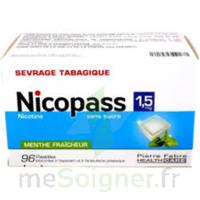 Nicopass 1,5 Mg Pastille Sans Sucre Menthe Fraîcheur Plq/96 à Saint-Pierre-des-Corps