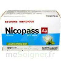 Nicopass 2,5 Mg Pastille Menthe Fraîcheur Sans Sucre Plq/96 à Saint-Pierre-des-Corps