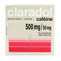 CLARADOL CAFEINE 500 mg/50 mg, comprimé effervescent à Saint-Pierre-des-Corps