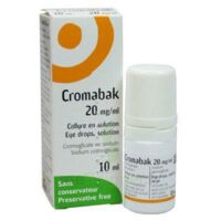 CROMABAK 20 mg/ml, collyre en solution à Saint-Pierre-des-Corps