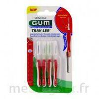 Gum Trav - Ler, 0,8 Mm, Manche Rouge , Blister 4 à Saint-Pierre-des-Corps