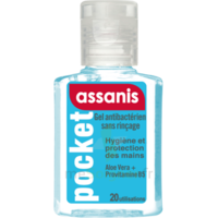 Assanis Pocket Gel antibactérien mains 20ml à Saint-Pierre-des-Corps