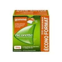 Nicorette 2 mg Gomme à mâcher médicamenteuse sans sucre fruits Plq/210 à Saint-Pierre-des-Corps