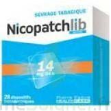 NICOPATCHLIB 14 mg/24 h Dispositifs transdermiques B/28 à Saint-Pierre-des-Corps