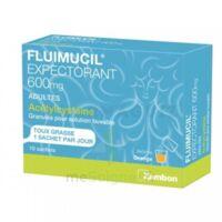 FLUIMUCIL EXPECTORANT ACETYLCYSTEINE 600 mg Glé s buv adultes 10Sach à Saint-Pierre-des-Corps