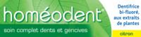 Boiron Homéodent Soin Complet Dents et Gencives Pâte Dentifrice Citron 2T/75ml à Saint-Pierre-des-Corps